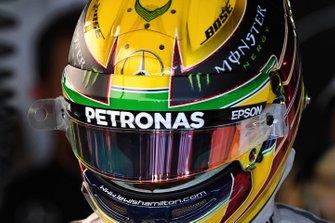 Il casco del Lewis Hamilton, Mercedes