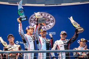 #1 Rebellion Racing - Rebellion R13 - Gibson: Bruno Senna, Gustavo Menezes, Norman Nato Podium