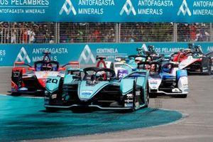 Mitch Evans, Jaguar Racing, Jaguar I-Type 4, at the start of the race