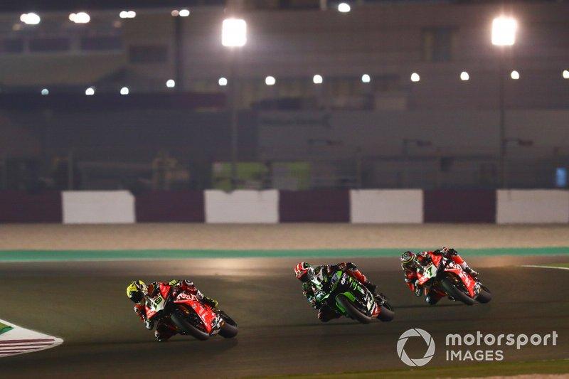 Alvaro Bautista, Aruba.it Racing-Ducati Team, Jonathan Rea, Kawasaki Racing Team, Chaz Davies, Aruba.it Racing-Ducati Team
