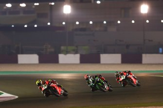 Alvaro Bautista, Aruba.it Racing-Ducati Team, Jonathan Rea, Kawasaki Racing Team, Chaz Davies, Aruba.it Racing-Ducati Team