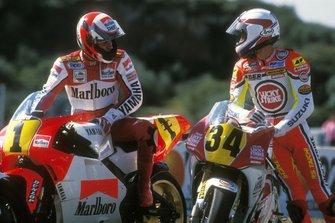 Wayne Rainey, Yamaha and Kevin Schwantz, Suzuki
