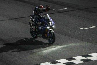 Il vincitore della gara Niccolò Canepa, Team YART Yamaha #7