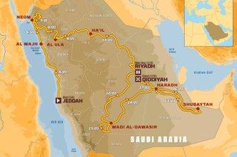 El mapa del Dakar 2020