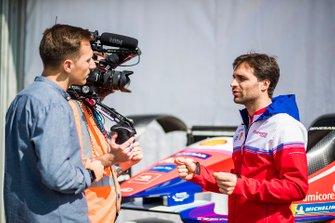 Jérôme d'Ambrosio, Mahindra Racing, parla alla stampa