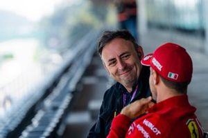 Roberto Chinchero in an interview with Sebastian Vettel, Ferrari