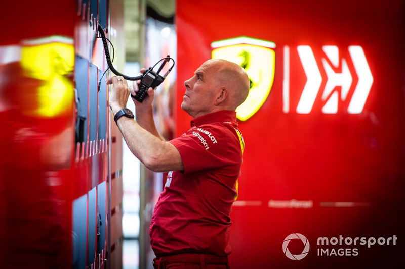 Jock Clear, ingegnere di pista, Ferrari