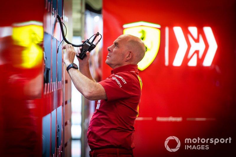 Jock Clear, Race Engineer, Ferrari.