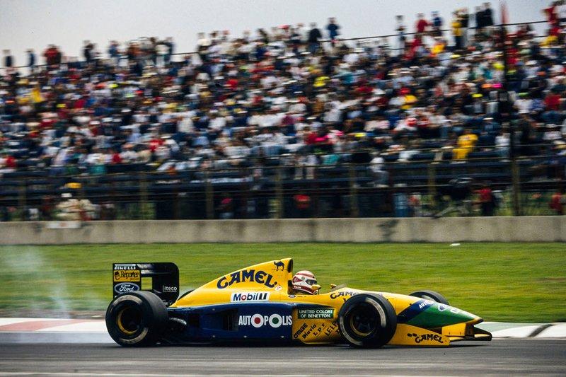 Nelson Piquet, Benetton B191 Ford en el Autódromo Hermanos Rodriguez