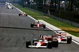 Ayrton Senna, McLaren MP4/5, Alain Prost, McLaren MP4/5, Gerhard Berger, Ferrari 640, Nigel Mansell, Ferrari 640