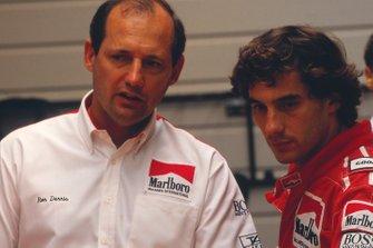 Ayrton Senna, McLaren, mit Ron Dennis