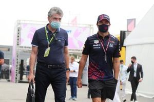 Sergio Perez, Red Bull Racing with manager Julian Jakobi