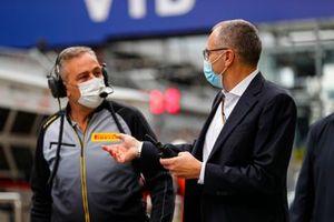 Mario Isola, Racing Manager, Pirelli Motorsport, and Stefano Domenicali, CEO, Formula 1