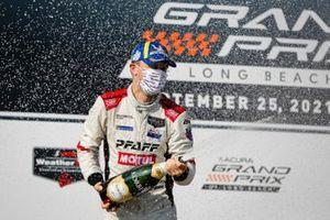 #9: Pfaff Motorsports Porsche 911 GT3R, GTD: Zacharie Robichon, Laurens Vanthoor, champagne