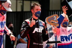 Podium: third place Kelvin van der Linde, Abt Sportsline