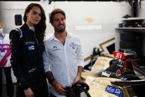 Model, actress Cara Delevigne in the DS Techeetah garage with Antonio Felix Da Costa, DS Techeetah