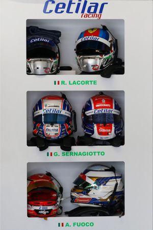 Helme: Roberto Lacorte, Giorgio Sernagiotto, Antonio Fuoco, Cetilar Racing