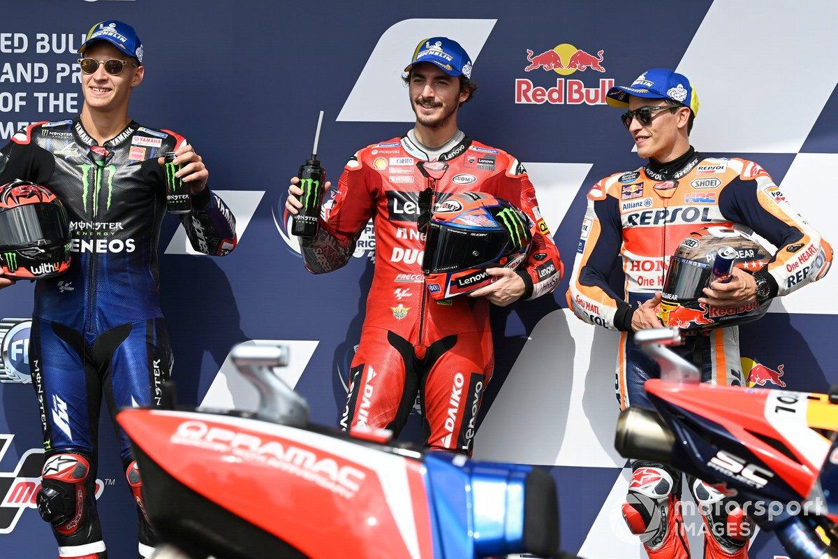 Fabio Quartararo, Yamaha Factory Racing, Francesco Bagnaia, Ducati Team, Marc Marquez, Repsol Honda Team