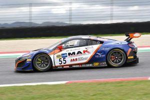 #55 Nova Race, Honda NSX GT3 Evo: Francesco Massimo De Luca, Jacopo Guidetti