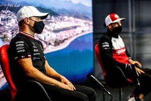 Valtteri Bottas, Mercedes and Antonio Giovinazzi, Alfa Romeo Racing in the Press Conference