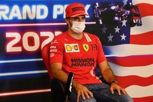 Carlos Sainz Jr., Ferrari in the drivers press conference