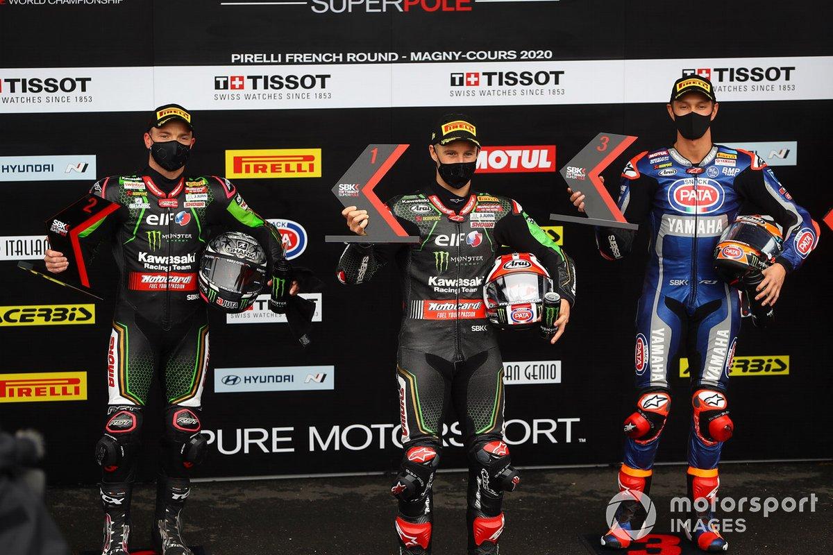 Alex Lowes, Kawasaki Racing Team, Jonathan Rea, Kawasaki Racing Team, Michael van Der Mark, Pata Yamaha