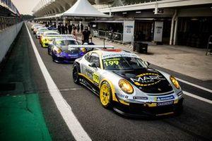 Carros da Porsche em Interlagos