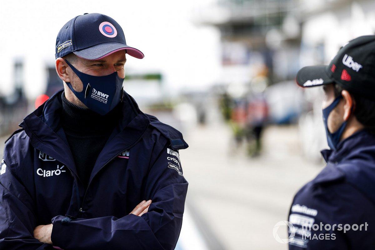 Nico Hulkenberg, Racing Point y Sergio Pérez, Racing Point