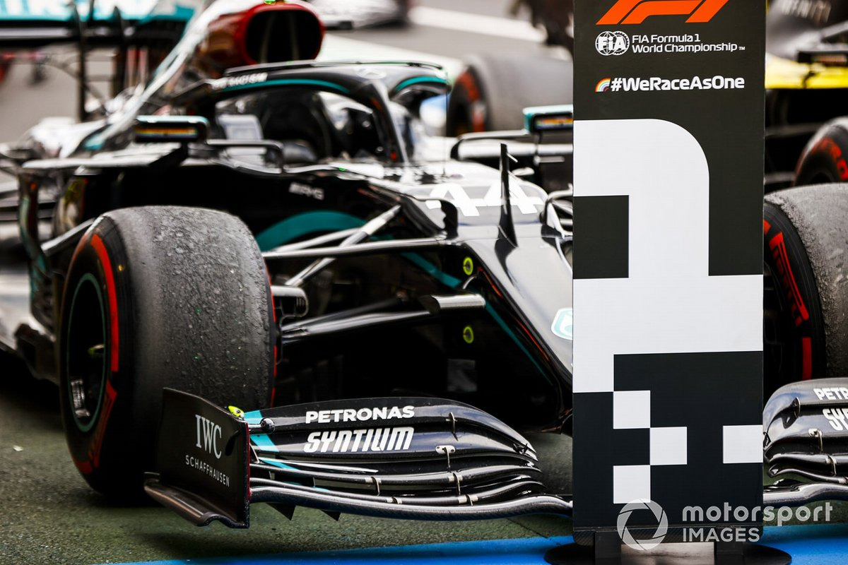Car of Race Winner Lewis Hamilton, Mercedes F1 W11 in Parc Ferme