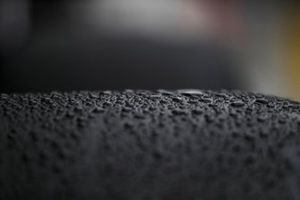 Water droplets on a Pirelli tyre