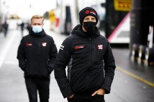 Romain Grosjean en Kevin Magnussen, Haas F1