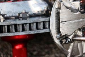 Details, close up, brake rotor and parts