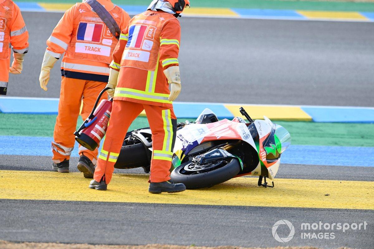 Caída de Niccolo Canepa, LCR E-Team