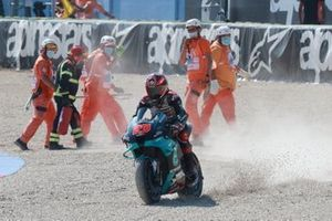 Fabio Quartararo, Petronas Yamaha SRT after crash