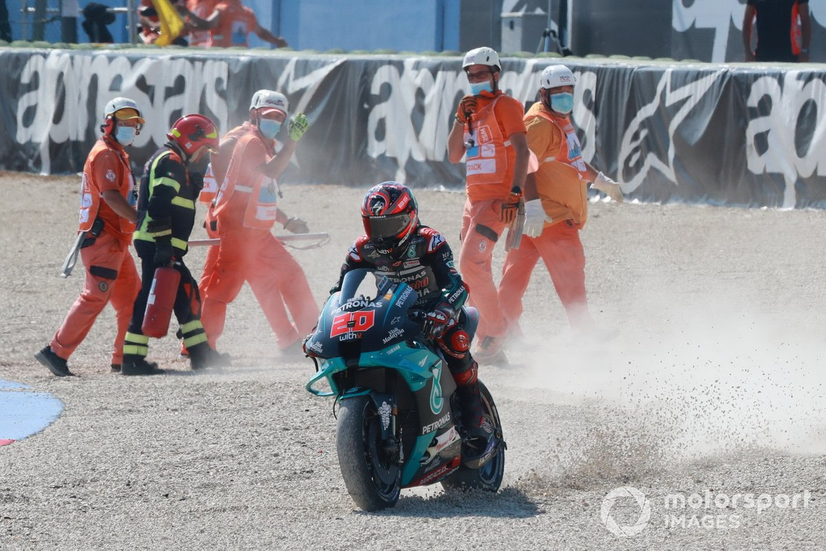 Fabio Quartararo, Petronas Yamaha SRT after crash