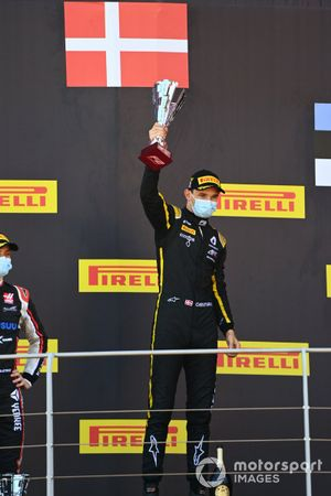 Christian Lundgaard, ART Grand Prix, 1st position, on the podium
