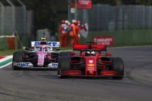Sebastian Vettel, Ferrari SF1000, Lance Stroll, Racing Point RP20