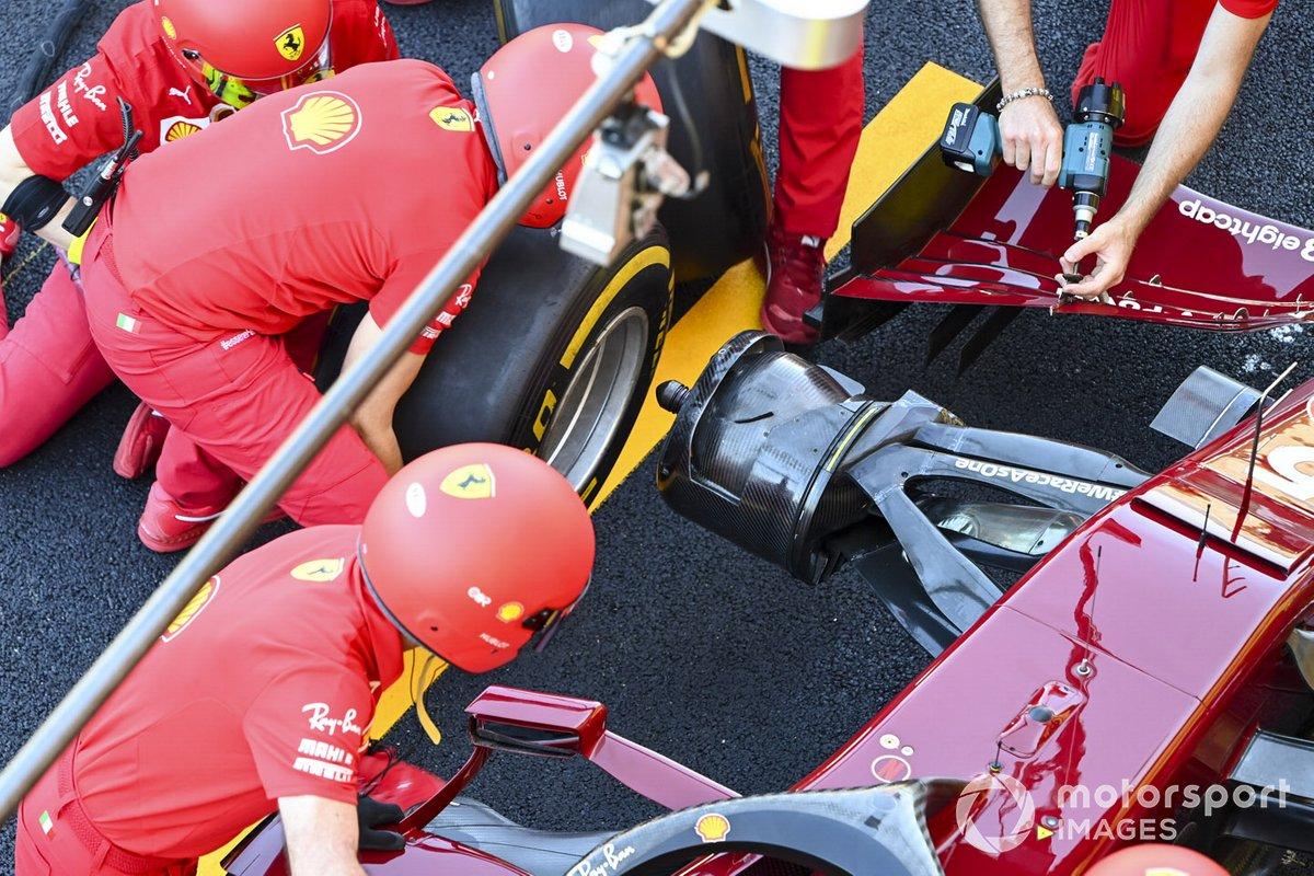 Prove pit stop Ferrari