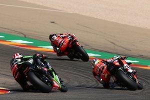 Scott Redding, Arubait Racing Ducati, Chaz Davies, Arubait Racing Ducati, Jonathan Rea, Kawasaki Racing Team