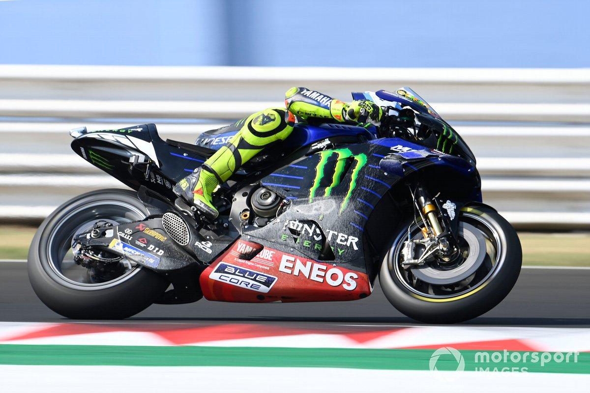 Valentino Rossi, Yamaha Factory Racing, dopo la caduta