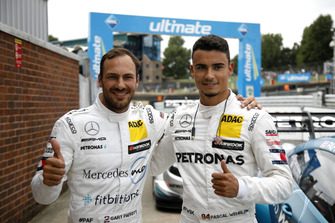 Pole sitter Gary Paffett, Mercedes-AMG Team HWA with Pascal Wehrlein, Mercedes-AMG Team HWA
