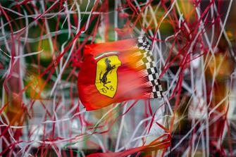 Ferrari flag and streamers