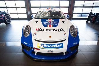 La Porsche GT3 Cup di Francesco De Luca, AB Racing, con la livrea storica