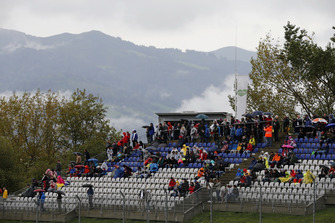 Spectators on the grand stand