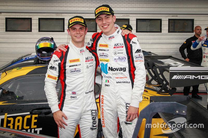 Los ganadores: #88 Akka ASP Team Mercedes-AMG GT3: Raffaele Marciello, Michael Meadows
