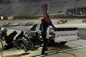 Brett Moffitt, Hattori Racing Enterprises, Toyota Tundra Otics USA Inc./Toyota Tsusho, makes a pit stop.