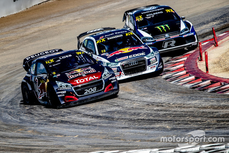 Sébastien Loeb, Team Peugeot Total, Andreas Bakkerud, EKS Audi Sport, Petter Solberg, PSRX Volkswagen Sweden
