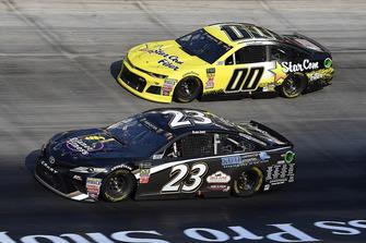 Blake Jones, BK Racing, Toyota Camry Tennessee XXX Moonshine, Landon Cassill, StarCom Racing, Chevrolet Camaro StarCom Fiber