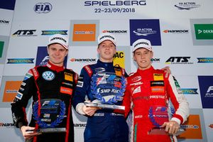 Rookie Podium: Winner Robert Shwartzman, PREMA Theodore Racing Dallara F317 - Mercedes-Benz, second place Jonathan Aberdein, Motopark Dallara F317 - Volkswagen, third place Marcus Armstrong, PREMA Theodore Racing Dallara F317 - Mercedes-Benz