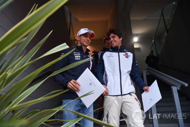 Esteban Ocon, Racing Point Force India F1 Team, Lance Stroll, Williams Racing